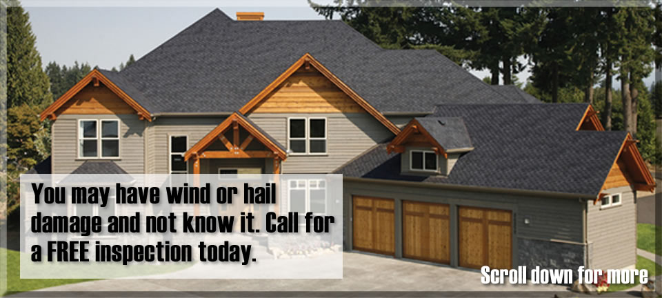 Your roof may have wind or hail damage Call Top That Roofing in Colorado