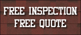 button for free roof inspection from this Denver roofing company